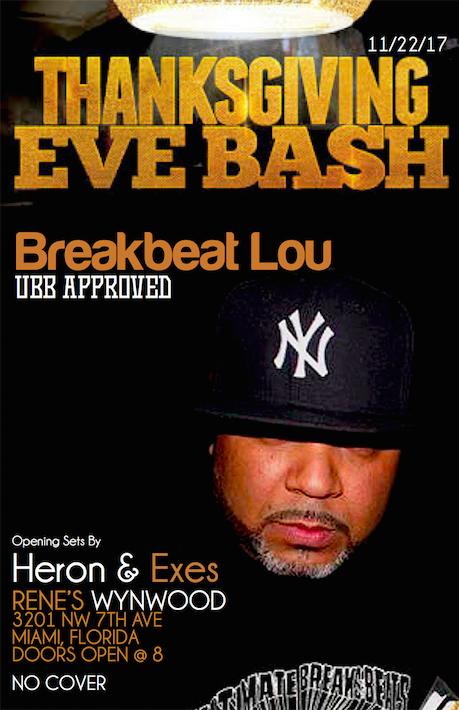 Breakbeat Lou Thanksgiving Eve