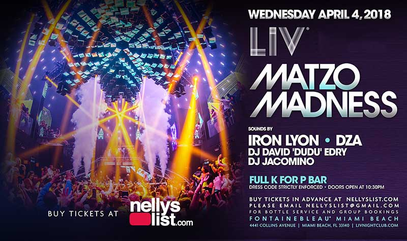 nellyslist passover parties at liv
