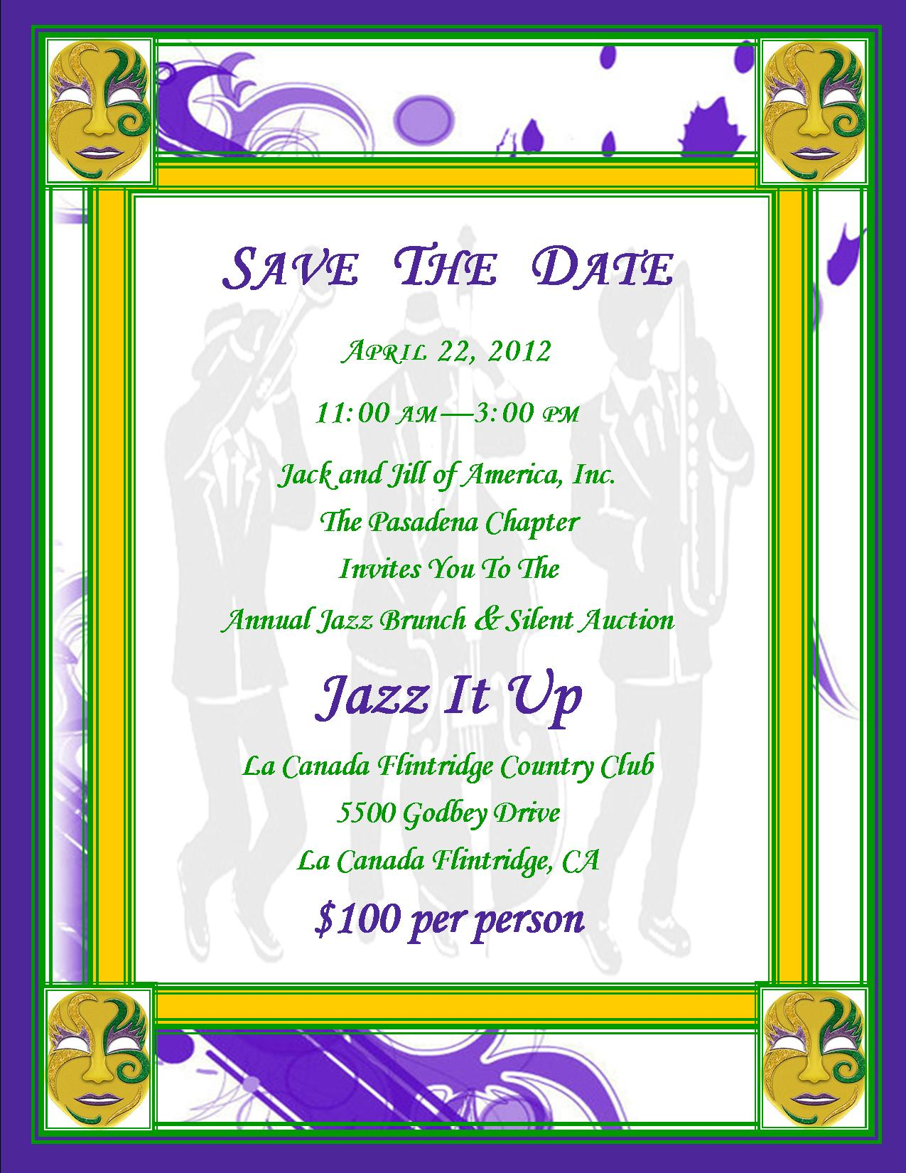 JJPasadena Jass It Up - Save the Date - April 22 2012