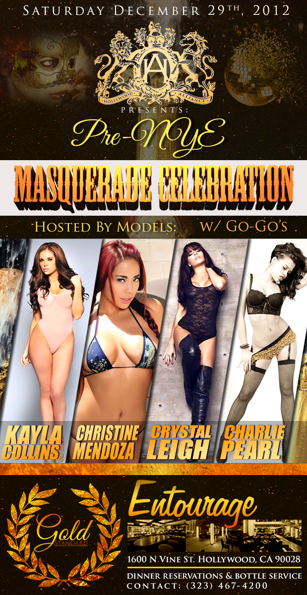 NYE AT ENTOURAGE W/ PLAYMATE KAYLA COLLINS