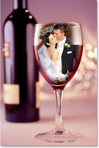 Wedding Couple In A Glass