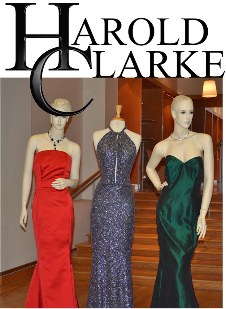 Harold Clarke V.I.P Event Shot of Gowns in Showroom