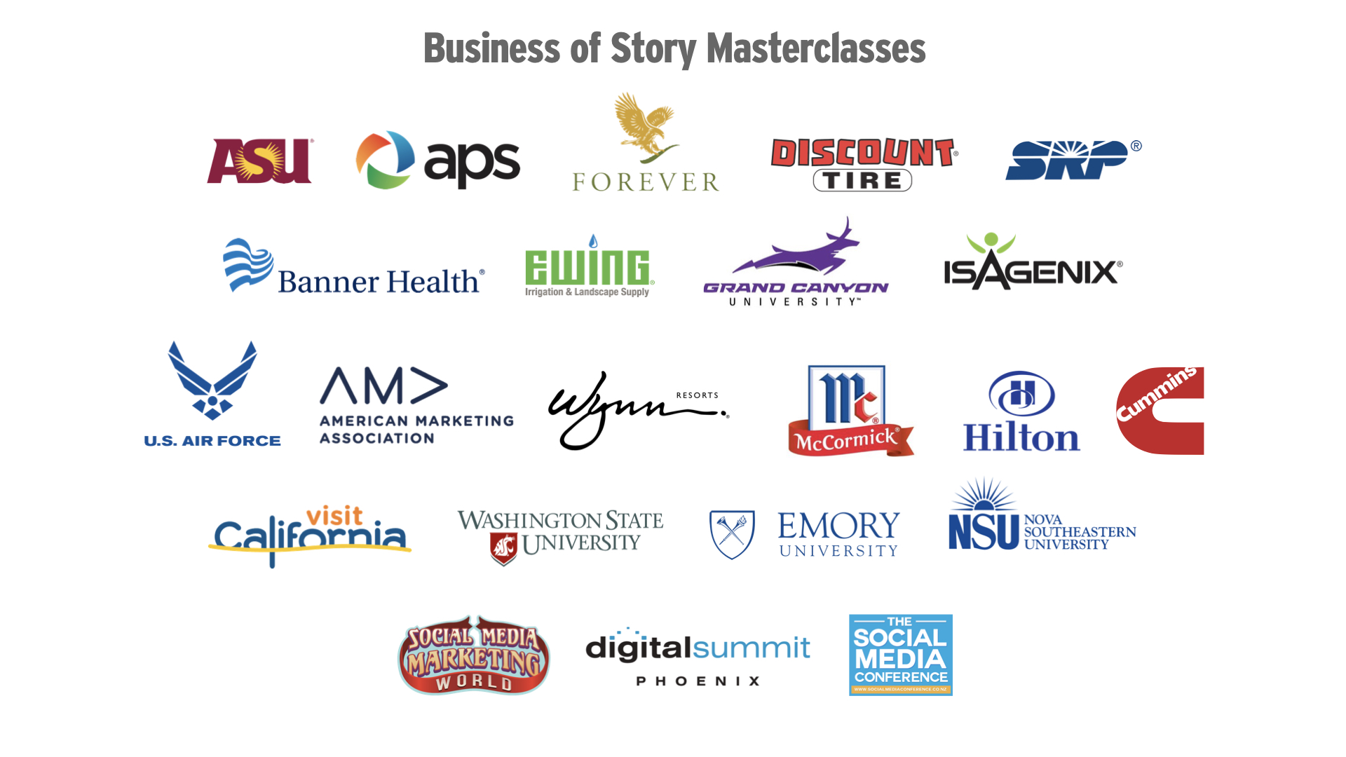 Business of Story Masterclass