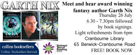 Garth Nix - Author talk and book signing