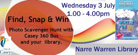 Find, Snap and Win Photo Scavenger Hunt - NAR Wed 03/07