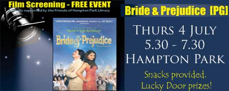 Bride & Prejudice - Film Screening - HAM Thu 04/07