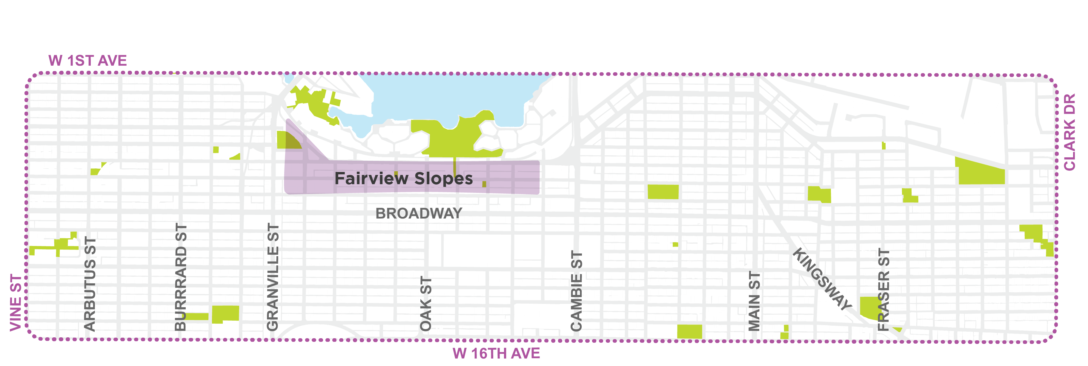 Fairview Slopes Map