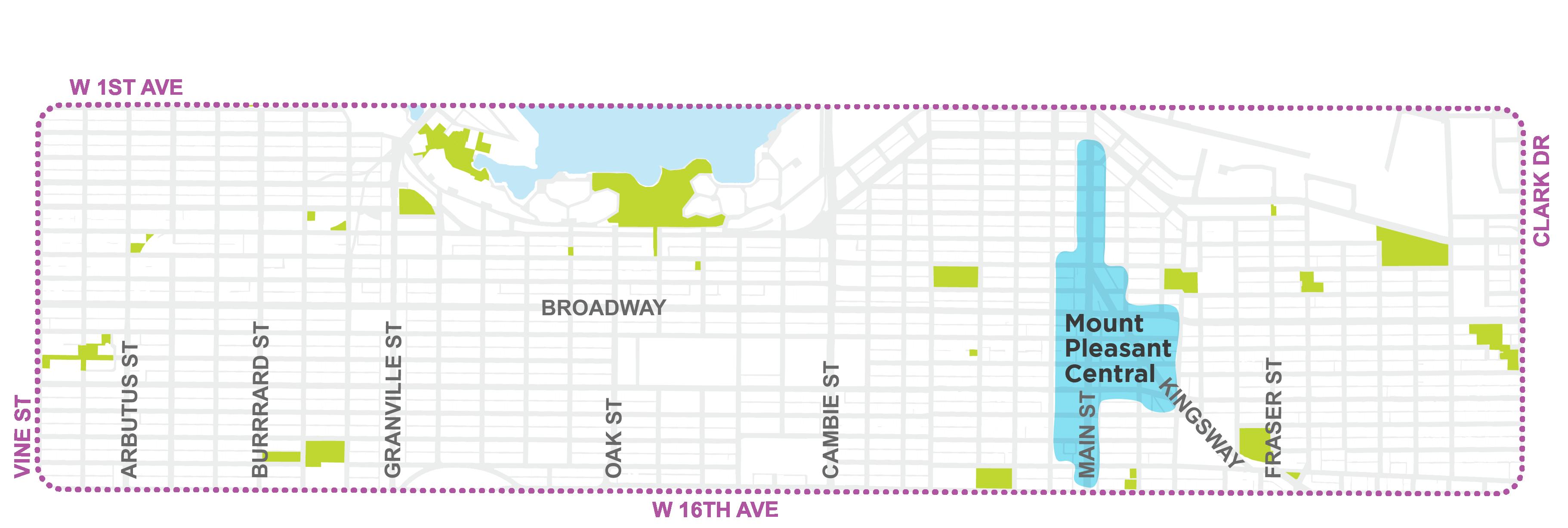 Mt Pleasant Central Map