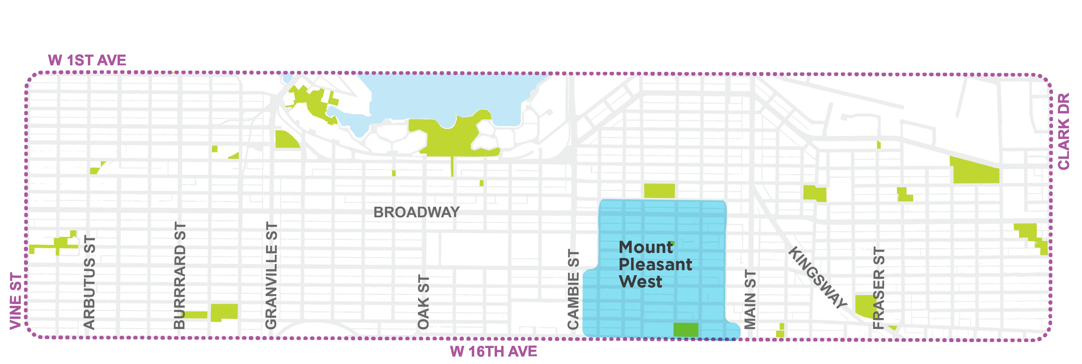 Mt Pleasant West Map