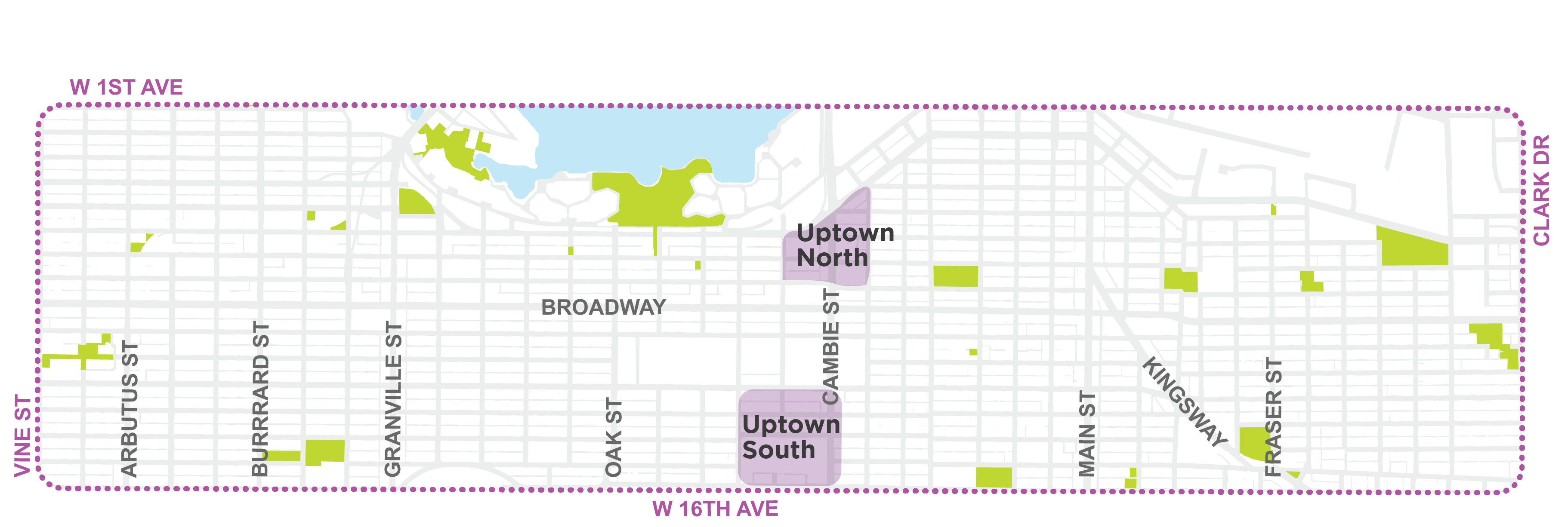 Uptown N/S Map