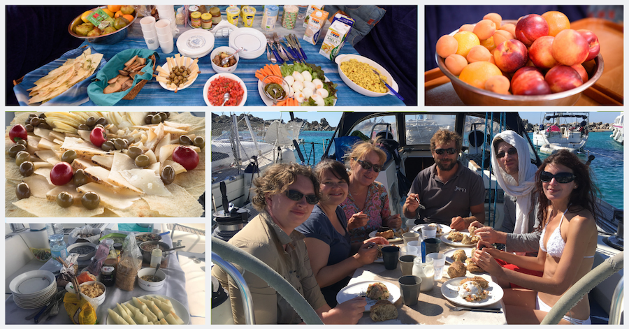 Yoga and sailing - food