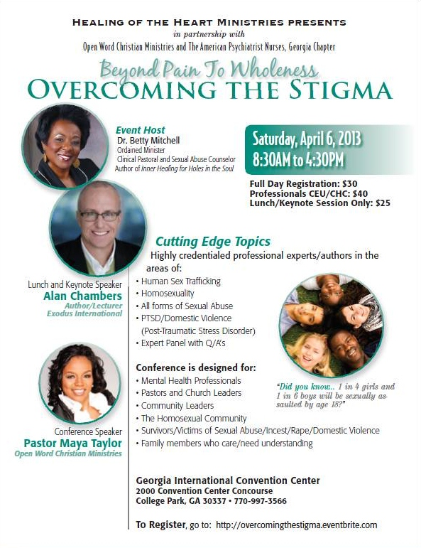 Overcoming The Stigma Flier