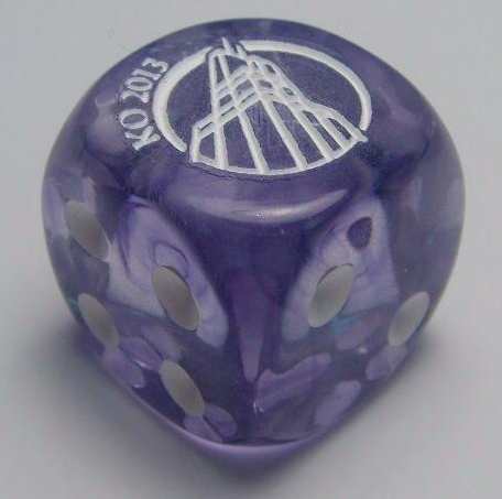 Custom die given to all entrants of the KO