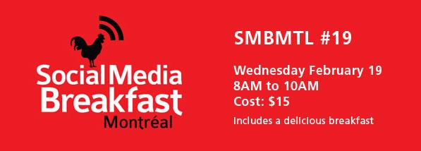 Social Media Breakfast Montreal - SMBMTL 19