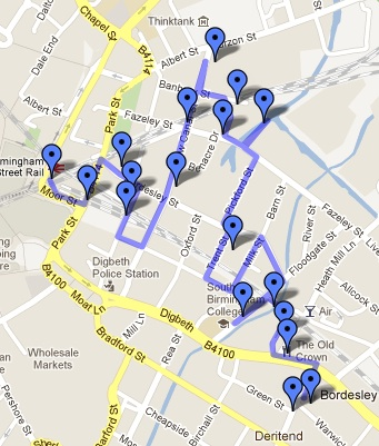 Map of the Photo Walk
