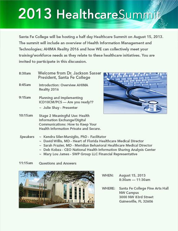 2013 Healthcare Summit Invitation