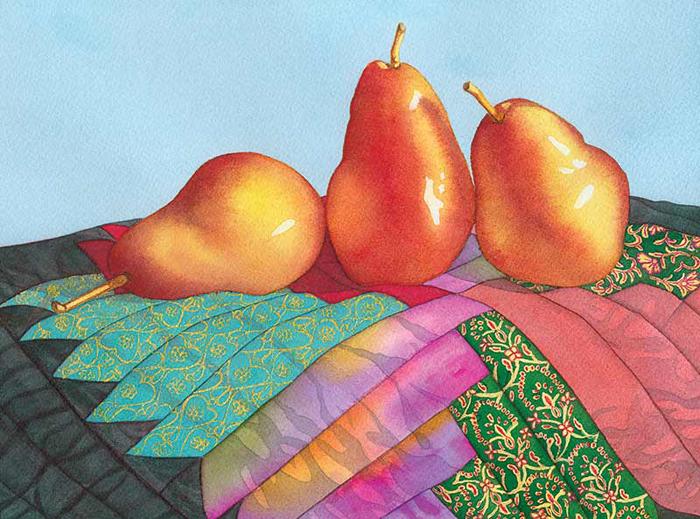 3 juicy pears