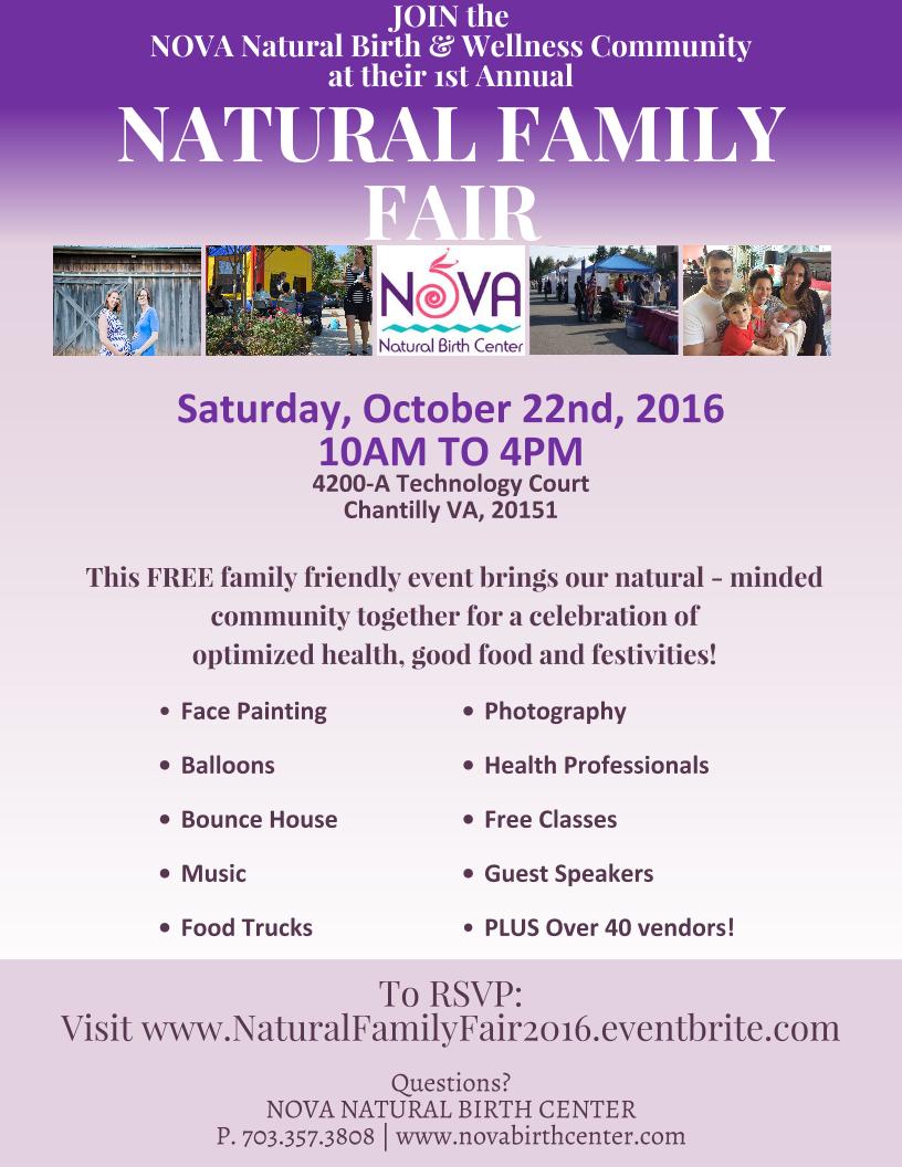 Annual Natural Family Fair 2016