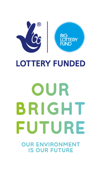 Big Lottery Fund / Our Bright Future logos