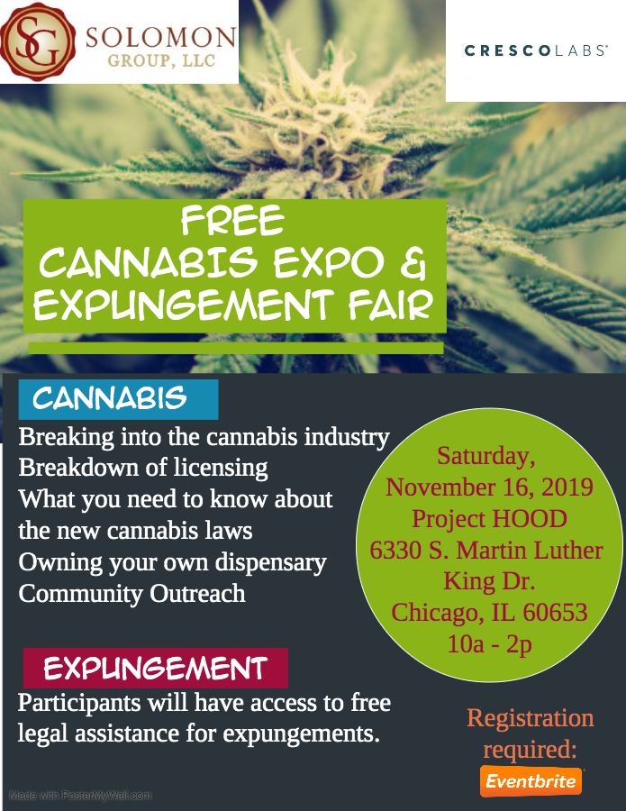 Free Cannabis Expo & Expungement Fair Flyer