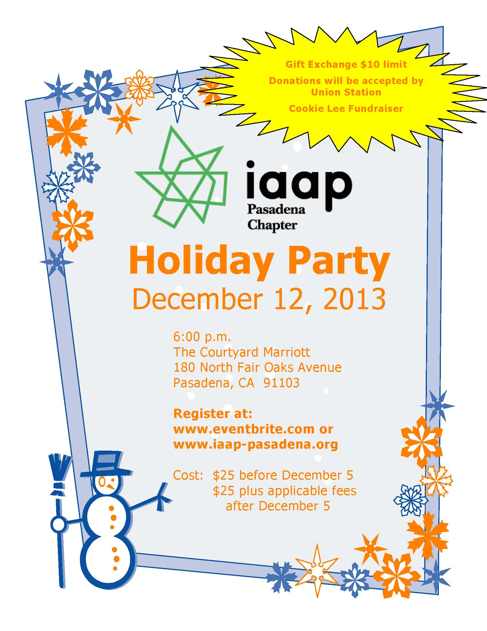 2013 December IAAP Pasadena Chapter Meeting Flyer