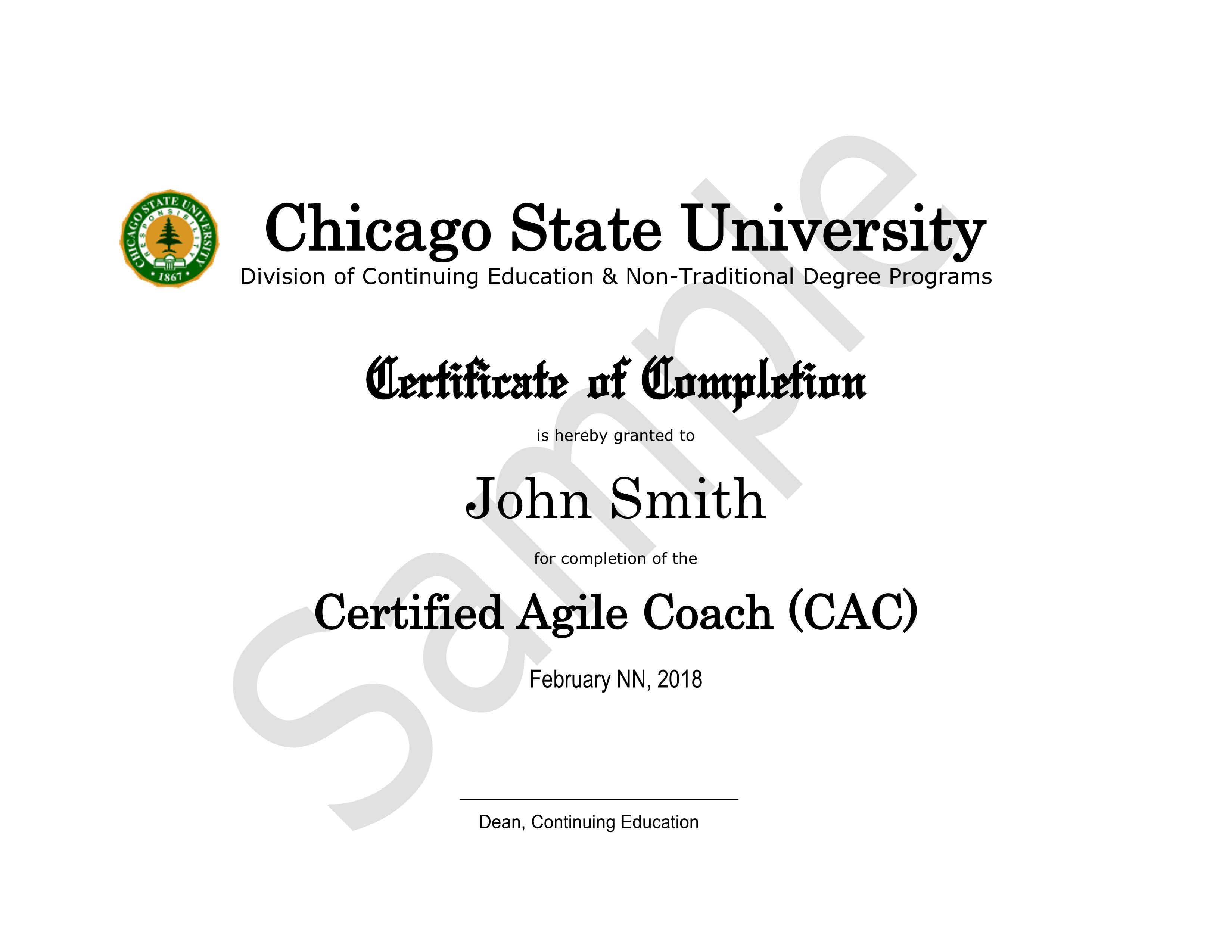 CAC Certificate Sample