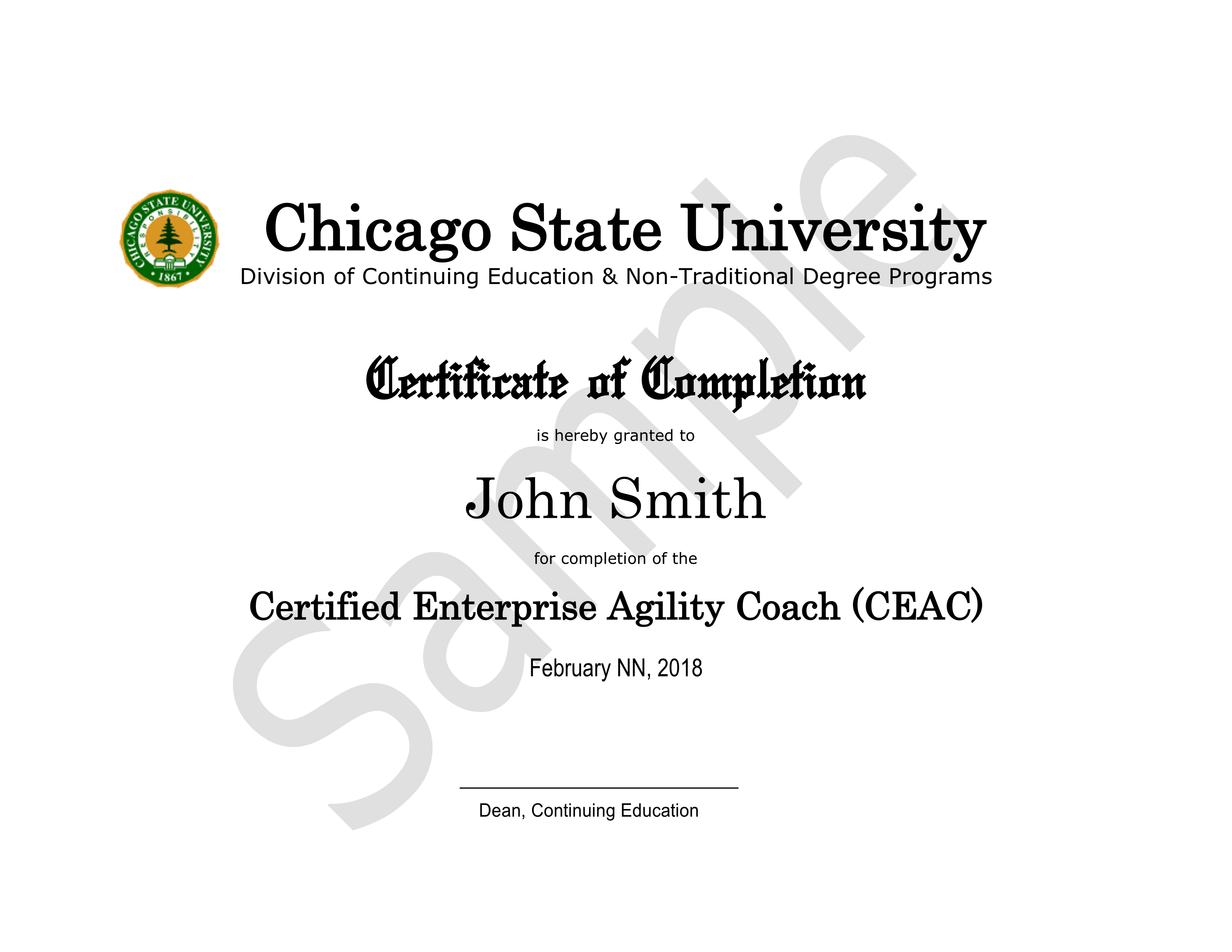 Certified Enterprise Agility Coach Ceac Training Chicago State