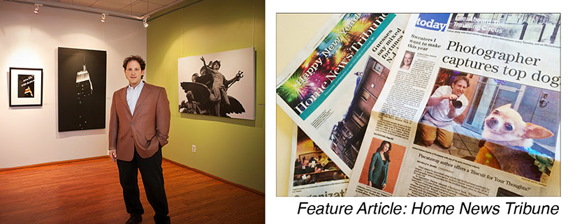 Andrew Darlow at a gallery and a newspaper article