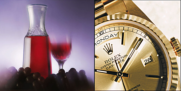Still life photo (grapes, wine and watch) by Andrew Darlow