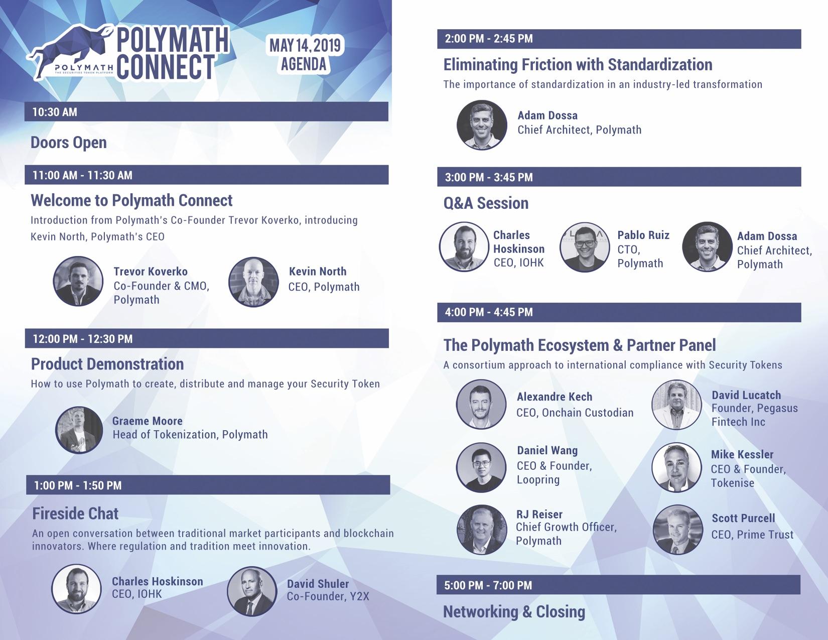 Polymath Connect Agenda