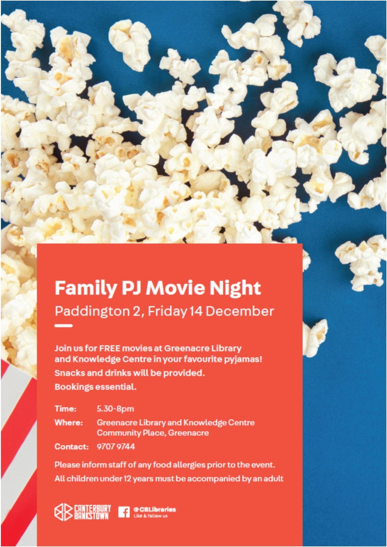 greenacre library family movie paddington 2