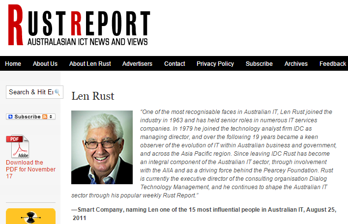 Len Rust Rust Report