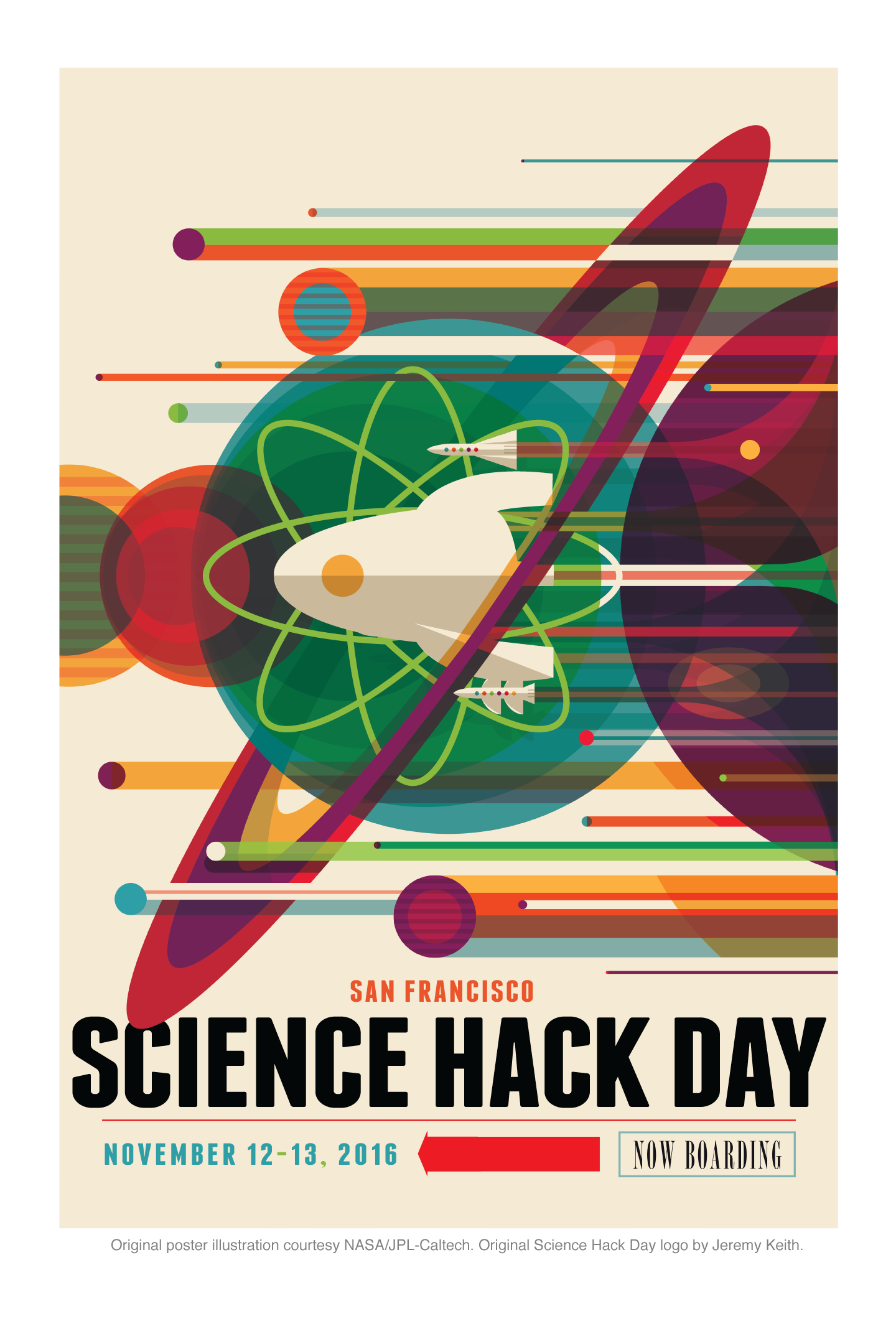 Science Hack Day interplanetary poster