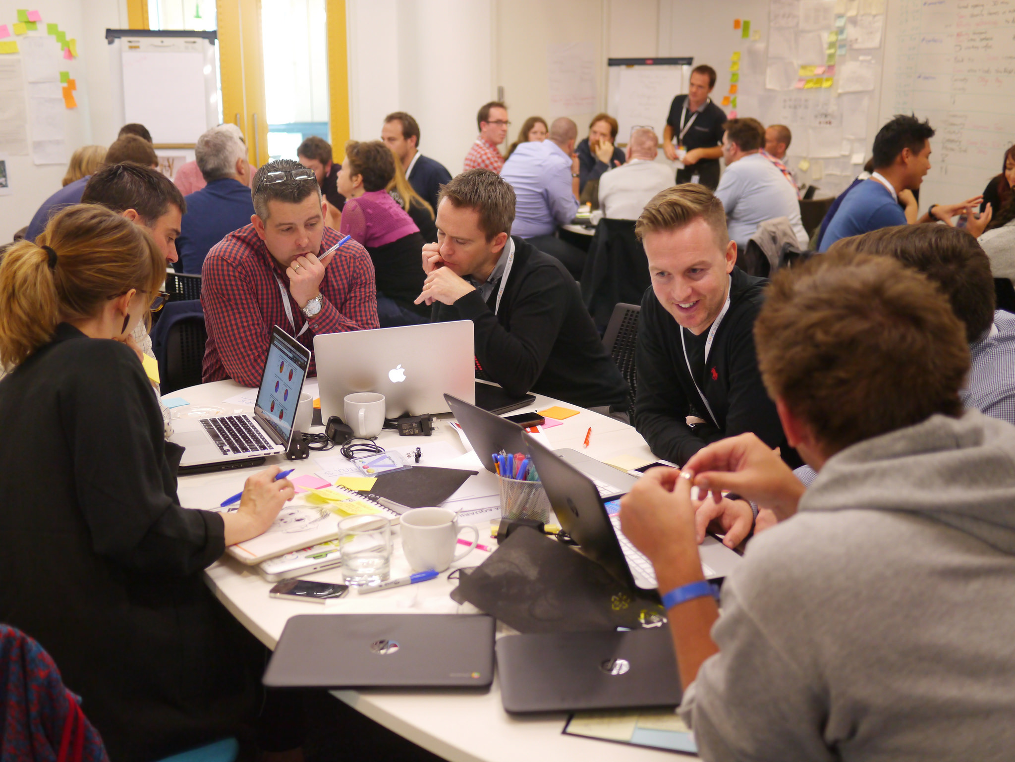 Participants in a NoTosh Problem Finding session