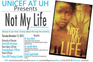 "UNICEF at UH ""Not My Life"" Screening"