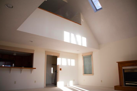 event space entry and skylights