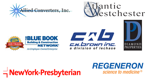 Allied Converters, Atlantic Westchester, The Blue Book Building & Construction Network, CW Brown, Diamond Properties, NewYork-Presbyterian, Regeneron