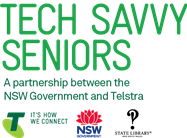 Telstra Tech Savvy Seniors Logo