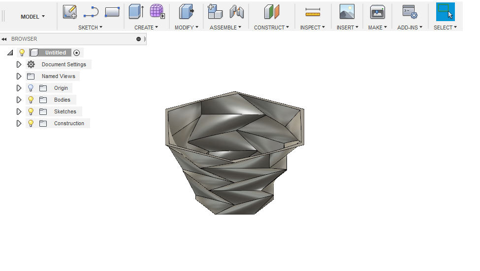 Flower pot made using Fusion 360