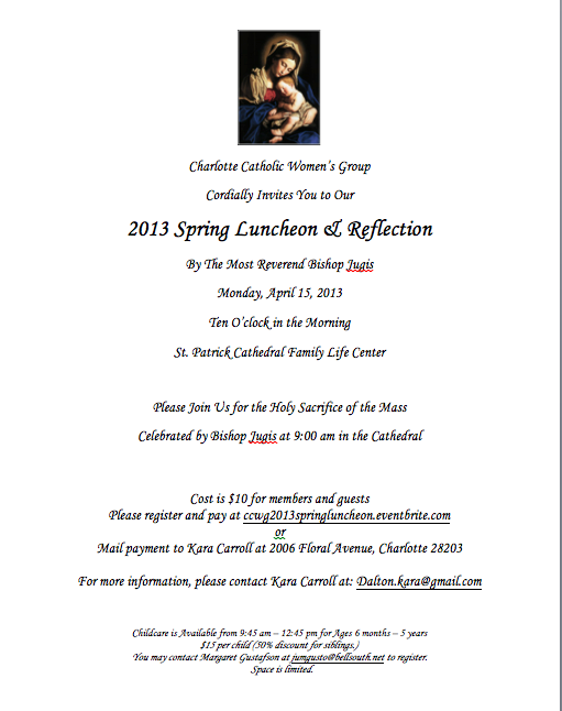 2013 Spring Luncheon Invite