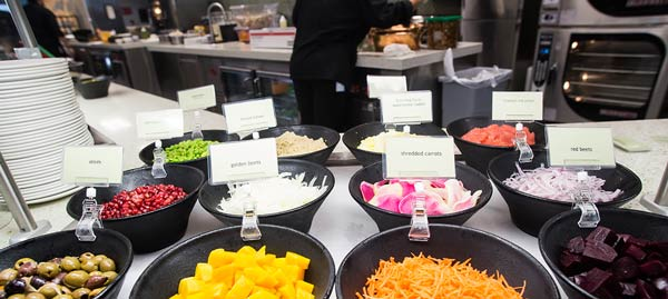Salad Bar in cafeteria