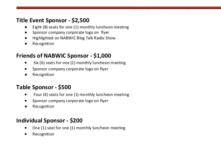 Annual Luncheon Sponsorship Opportunities