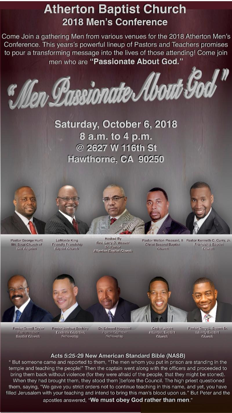 2018 Mens Conference