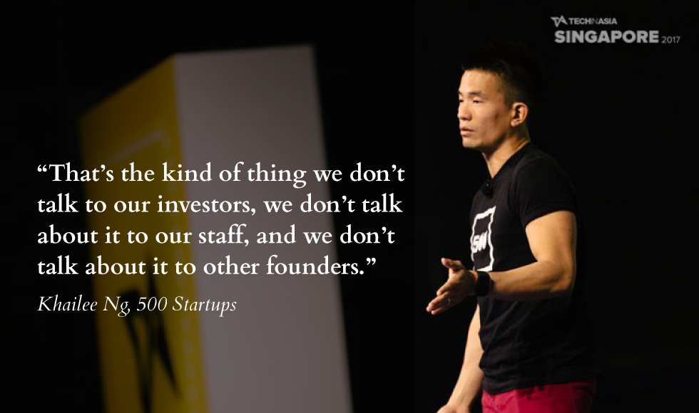 Khailee Ng, Managing Partner with 500 Startups, at the Tech in Asia Singapore 2017. Photo credit: Tech in Asia.