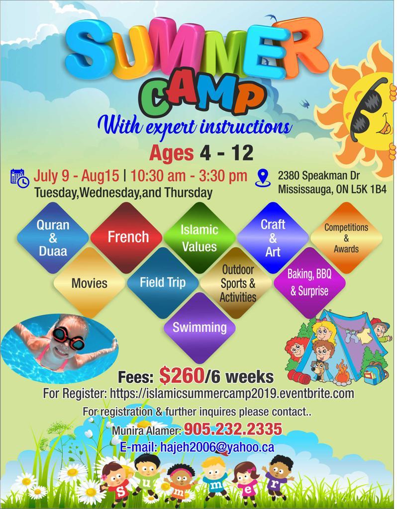 Islamic Summer Camp 2019 Tickets, Tue, Jul 9, 2019 at 10:30 AM