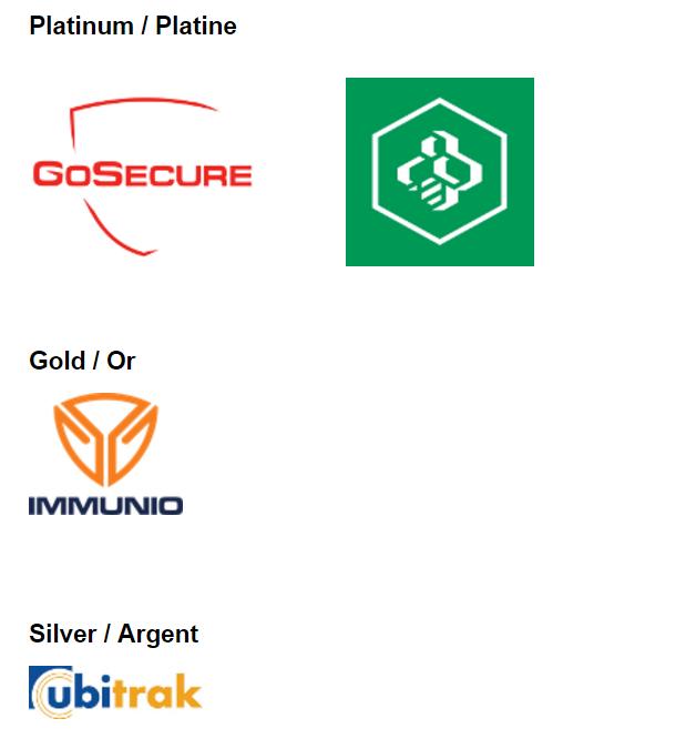 Commanditaires OWASP: GoSecure, Desjardins, Immunio, Ubitrak