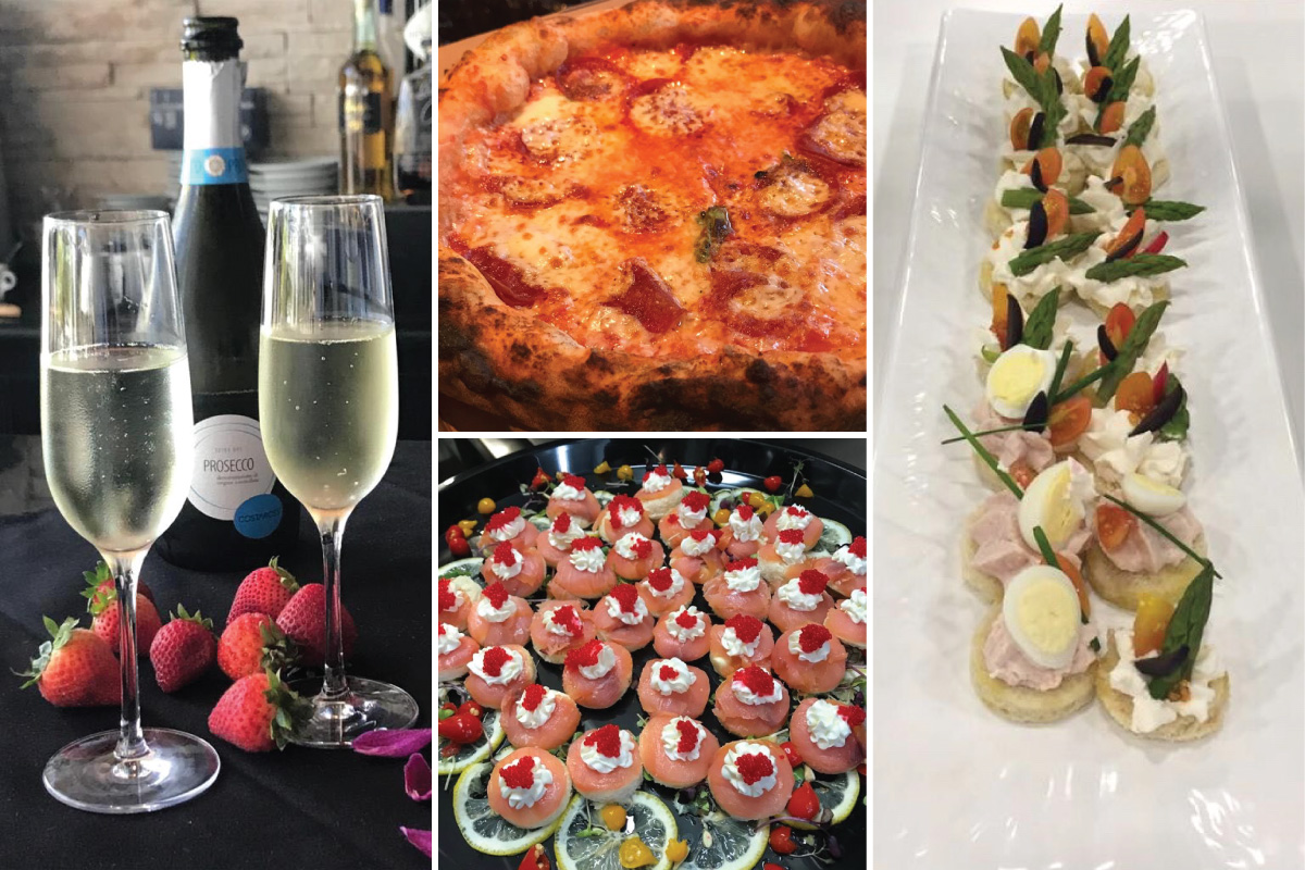 Prosecco, Personal Pizza, Caviar, and Appetizers provided by Puntino