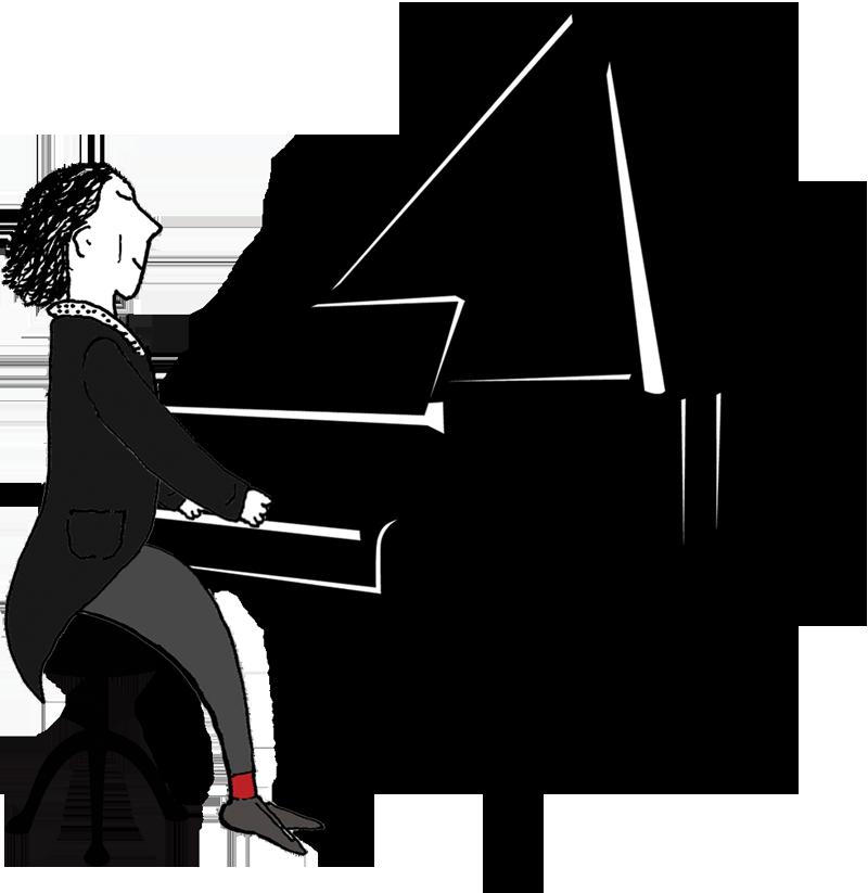 Gala Man at Piano