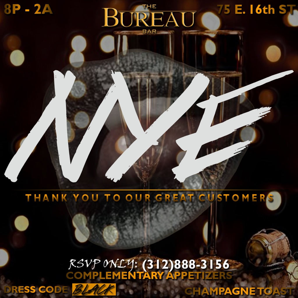 nye 2016 the bureau bar tickets wed dec 16 2015 at 7 00 pm eventbrite. Black Bedroom Furniture Sets. Home Design Ideas