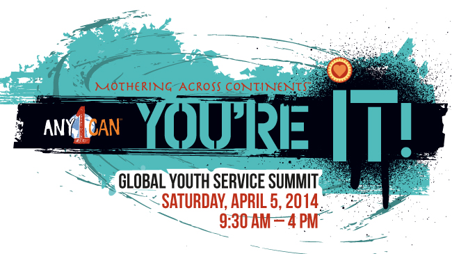 You're It! Global Youth Service Summit logo